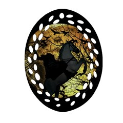 Headless Horseman Oval Filigree Ornament (two Sides) by Valentinaart