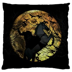 Headless Horseman Large Cushion Case (two Sides) by Valentinaart