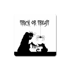 Halloween Square Magnet by Valentinaart
