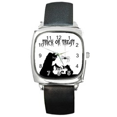 Halloween Square Metal Watch by Valentinaart