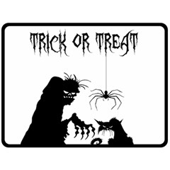 Halloween Fleece Blanket (large)  by Valentinaart