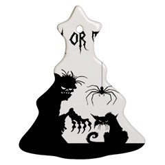 Halloween Christmas Tree Ornament (two Sides)