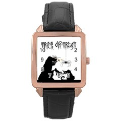 Halloween Rose Gold Leather Watch