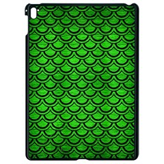 Scales2 Black Marble & Green Brushed Metal (r) Apple Ipad Pro 9 7   Black Seamless Case by trendistuff
