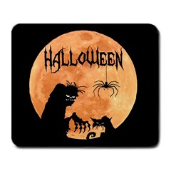Halloween Large Mousepads by Valentinaart