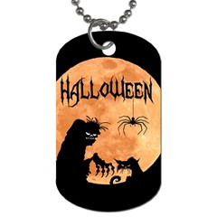Halloween Dog Tag (one Side)