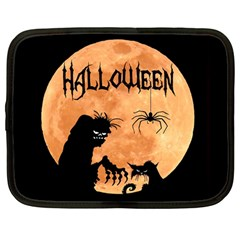 Halloween Netbook Case (large) by Valentinaart
