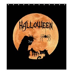 Halloween Shower Curtain 66  X 72  (large)  by Valentinaart