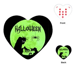 Halloween Playing Cards (heart)  by Valentinaart