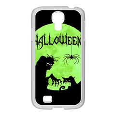 Halloween Samsung Galaxy S4 I9500/ I9505 Case (white) by Valentinaart
