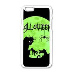 Halloween Apple Iphone 6/6s White Enamel Case by Valentinaart