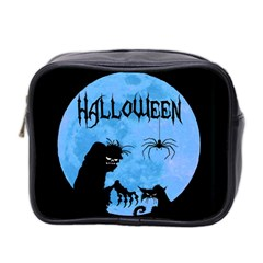 Halloween Mini Toiletries Bag 2 Side by Valentinaart