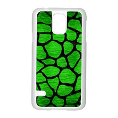 Skin1 Black Marble & Green Brushed Metal Samsung Galaxy S5 Case (white) by trendistuff