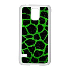 Skin1 Black Marble & Green Brushed Metal (r) Samsung Galaxy S5 Case (white) by trendistuff