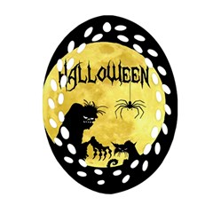 Halloween Ornament (oval Filigree) by Valentinaart