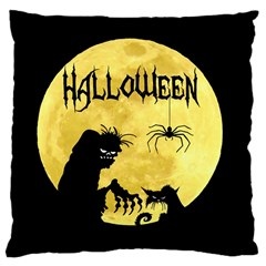 Halloween Large Cushion Case (two Sides) by Valentinaart