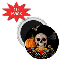 Halloween Candy Keeper 1 75  Magnets (10 Pack)  by Valentinaart