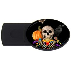 Halloween Candy Keeper Usb Flash Drive Oval (2 Gb) by Valentinaart