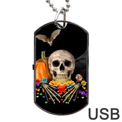 Halloween Candy Keeper Dog Tag Usb Flash (one Side)