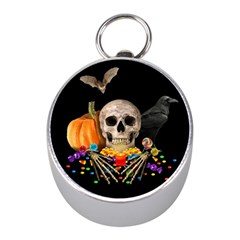 Halloween Candy Keeper Mini Silver Compasses by Valentinaart