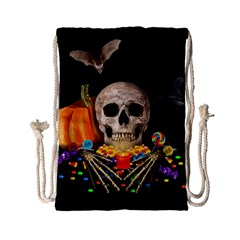 Halloween Candy Keeper Drawstring Bag (small) by Valentinaart