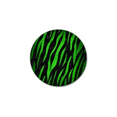 Skin3 Black Marble & Green Brushed Metal Golf Ball Marker (4 Pack) by trendistuff
