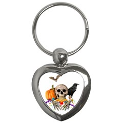 Halloween Candy Keeper Key Chains (heart)  by Valentinaart