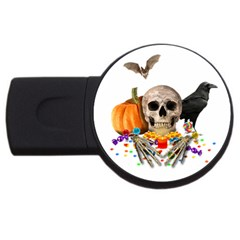 Halloween Candy Keeper Usb Flash Drive Round (4 Gb) by Valentinaart