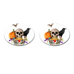 Halloween Candy Keeper Cufflinks (oval) by Valentinaart