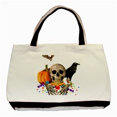 Halloween Candy Keeper Basic Tote Bag (two Sides) by Valentinaart