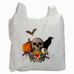 Halloween Candy Keeper Recycle Bag (two Side)  by Valentinaart