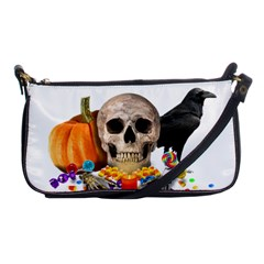 Halloween Candy Keeper Shoulder Clutch Bags by Valentinaart