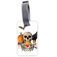 Halloween Candy Keeper Luggage Tags (two Sides) by Valentinaart