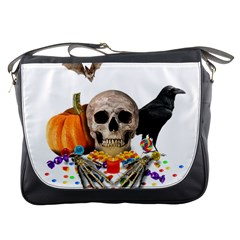 Halloween Candy Keeper Messenger Bags by Valentinaart