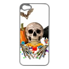 Halloween Candy Keeper Apple Iphone 5 Case (silver) by Valentinaart