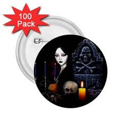 Vampires Night  2 25  Buttons (100 Pack)  by Valentinaart