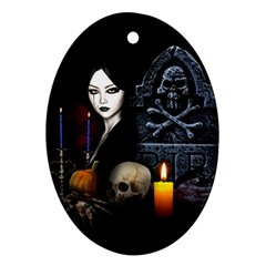 Vampires Night  Oval Ornament (two Sides) by Valentinaart