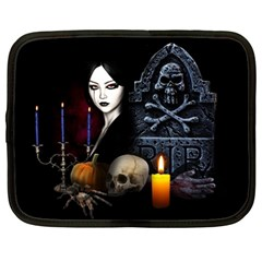 Vampires Night  Netbook Case (large) by Valentinaart