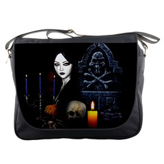 Vampires Night  Messenger Bags by Valentinaart