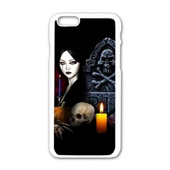 Vampires Night  Apple Iphone 6/6s White Enamel Case by Valentinaart