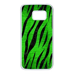 Skin3 Black Marble & Green Brushed Metal (r) Samsung Galaxy S7 White Seamless Case