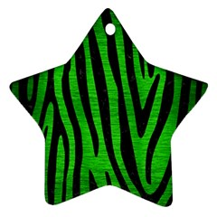 Skin4 Black Marble & Green Brushed Metal Star Ornament (two Sides) by trendistuff