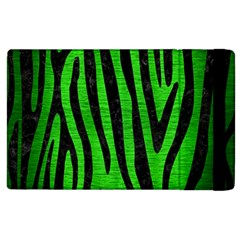 Skin4 Black Marble & Green Brushed Metal Apple Ipad 3/4 Flip Case by trendistuff