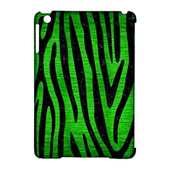 Skin4 Black Marble & Green Brushed Metal Apple Ipad Mini Hardshell Case (compatible With Smart Cover) by trendistuff