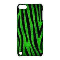 Skin4 Black Marble & Green Brushed Metal Apple Ipod Touch 5 Hardshell Case With Stand by trendistuff