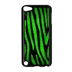 Skin4 Black Marble & Green Brushed Metal (r) Apple Ipod Touch 5 Case (black) by trendistuff