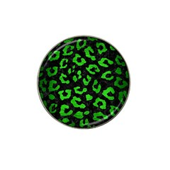 Skin5 Black Marble & Green Brushed Metal (r) Hat Clip Ball Marker (4 Pack) by trendistuff
