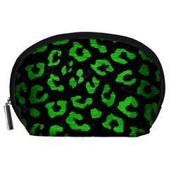 Skin5 Black Marble & Green Brushed Metal (r) Accessory Pouches (large)  by trendistuff