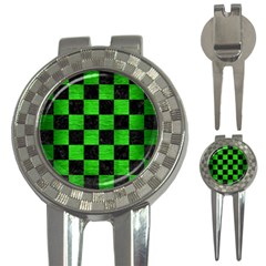 Square1 Black Marble & Green Brushed Metal 3 In 1 Golf Divots by trendistuff