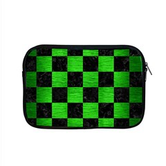 Square1 Black Marble & Green Brushed Metal Apple Macbook Pro 15  Zipper Case